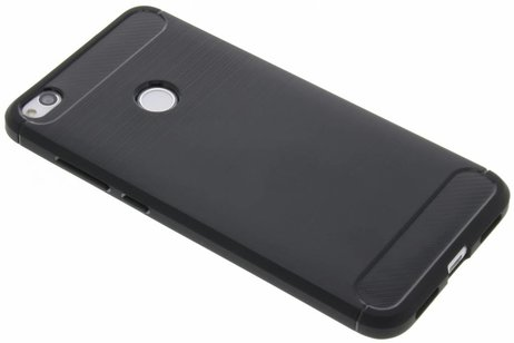 Brushed Backcover voor Huawei P8 Lite (2017) - Zwart