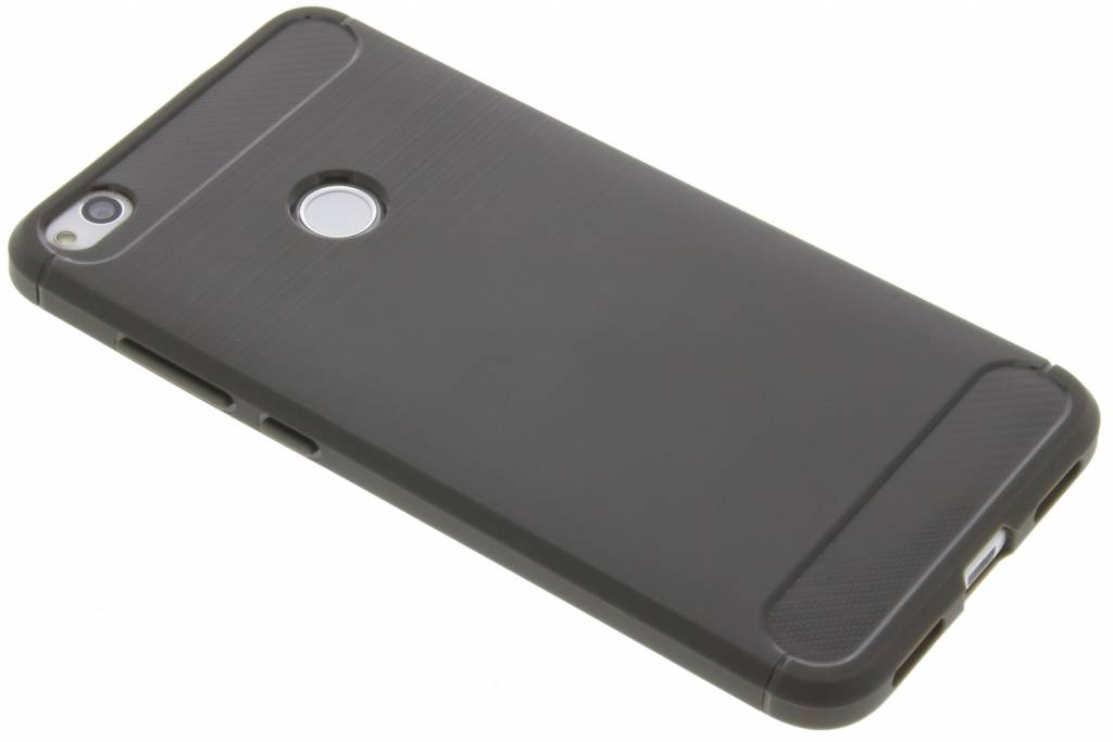 Brushed Backcover voor Huawei P8 Lite (2017) - Grijs