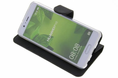 Accezz Wallet Softcase Booktype voor Huawei P10 - Zwart