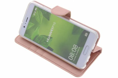 Accezz Wallet Softcase Booktype voor Huawei P10 - Rosé goud