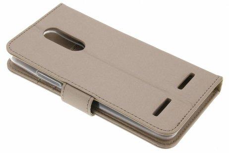 Accezz Wallet Softcase Booktype voor Lenovo K6 - Goud