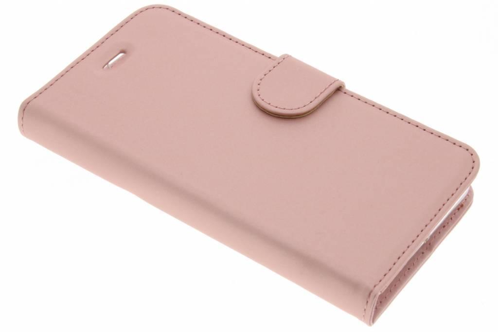 Accezz Wallet Softcase Booktype voor Lenovo K6 - Rosé goud