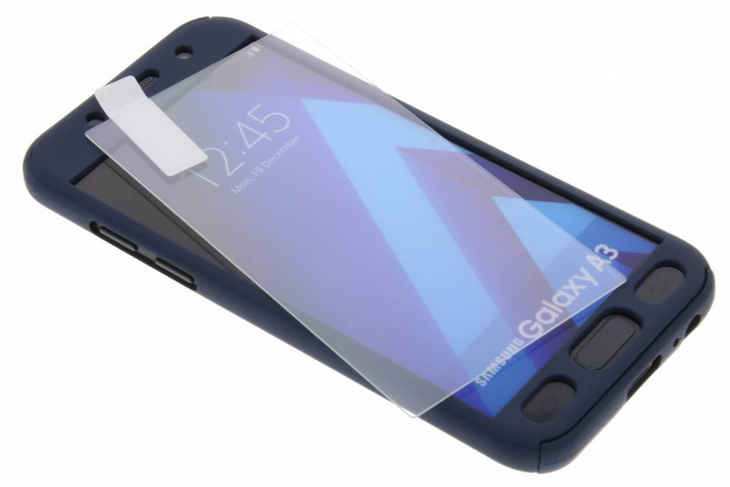 360° Effen Protect Backcover voor Samsung Galaxy A3 (2017) - Zwart