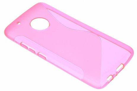 S-line Backcover voor Motorola Moto G5 Plus - Roze