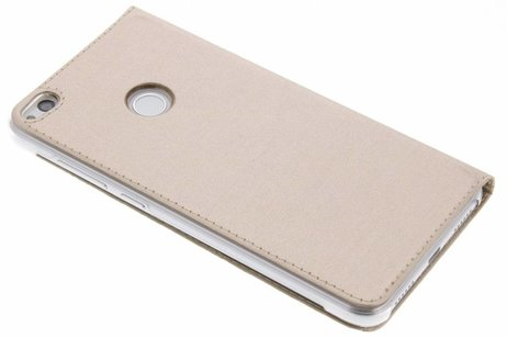 Slim Booktype met venster voor Huawei P8 Lite (2017) - Goud