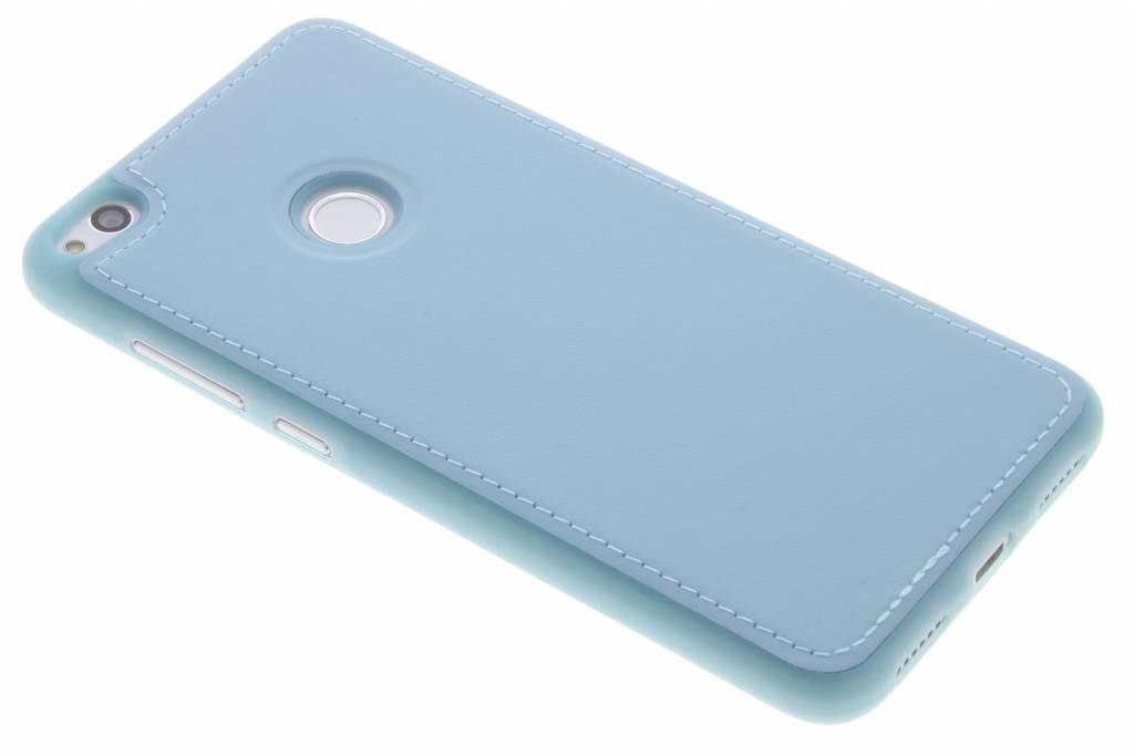 Lederen Backcover voor Huawei P8 Lite (2017) - Blauw