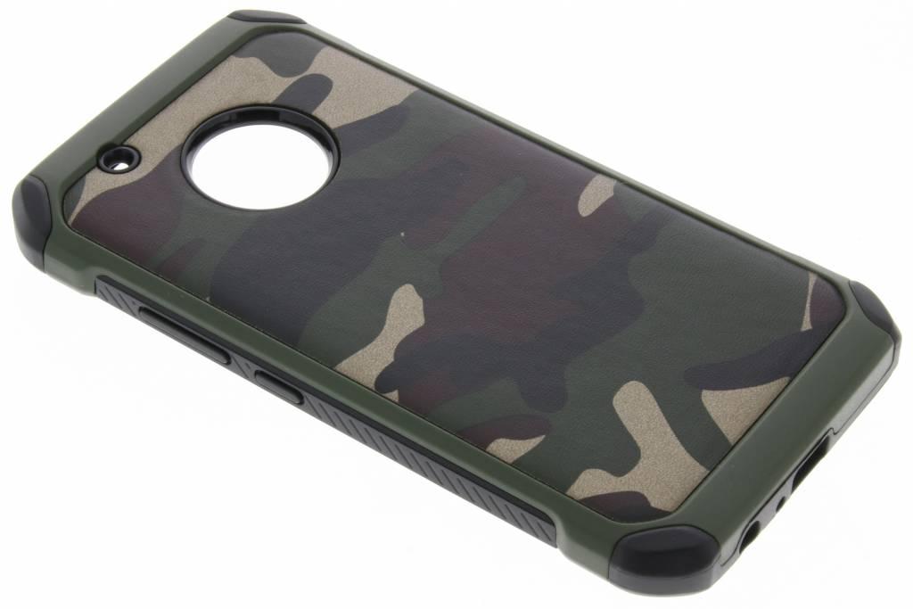 Army Defender Backcover voor Motorola Moto G5 Plus - Groen