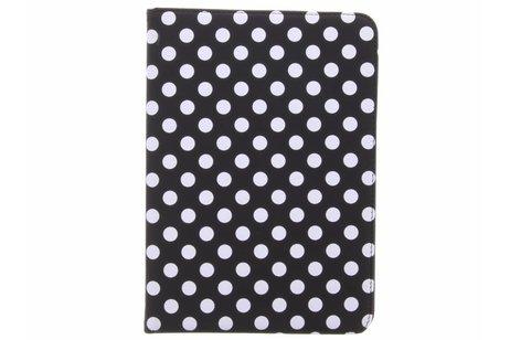 360° Draaibare Polka Dot Bookcase voor Samsung Galaxy Tab S3 9.7 - Zwart