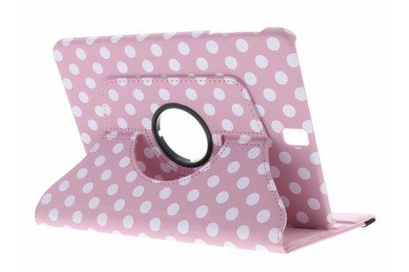 360° Draaibare Polka Dot Bookcase voor Samsung Galaxy Tab S3 9.7 - Roze