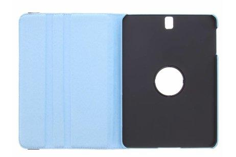 360° Draaibare Polka Dot Bookcase voor Samsung Galaxy Tab S3 9.7 - Blauw