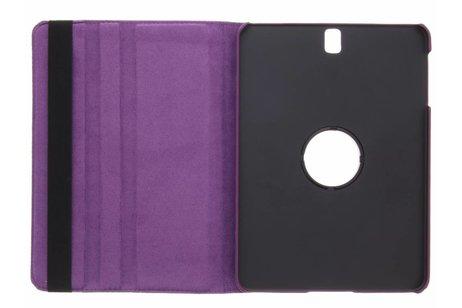 360° Draaibare Polka Dot Bookcase voor Samsung Galaxy Tab S3 9.7 - Paars