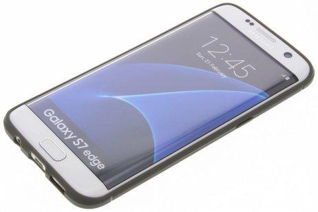 Brushed Backcover voor Samsung Galaxy S7 Edge - Grijs