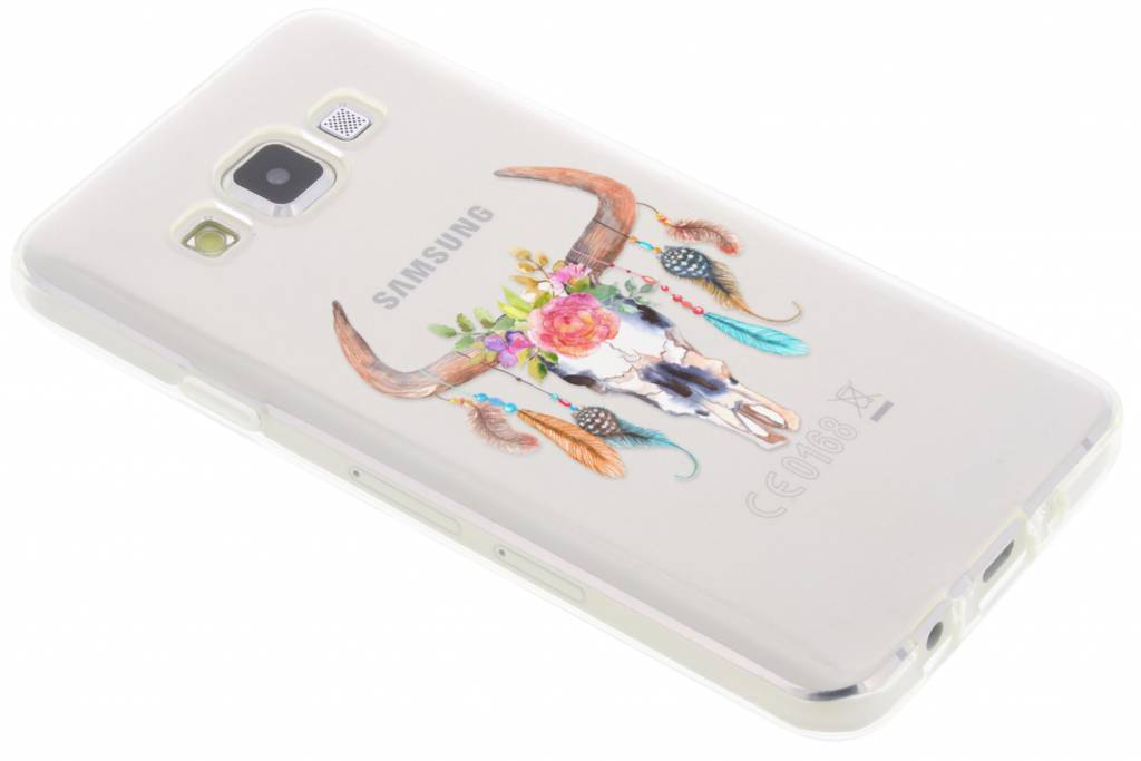 Design Backcover voor Samsung Galaxy A3 - Bull Skull Feathers