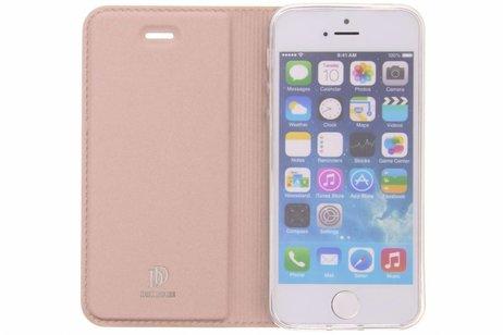 Dux Ducis Slim Softcase Booktype voor iPhone SE / 5 / 5s - Rosé goud