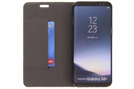 Denim Booktype voor Samsung Galaxy S8 Plus - Donkergrijs