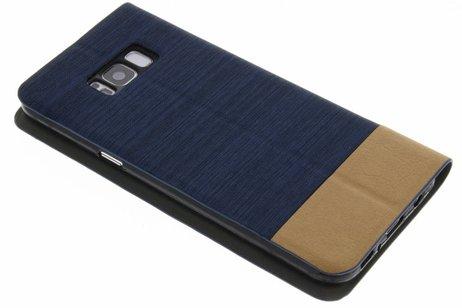 Denim Booktype voor Samsung Galaxy S8 Plus - Donkerblauw