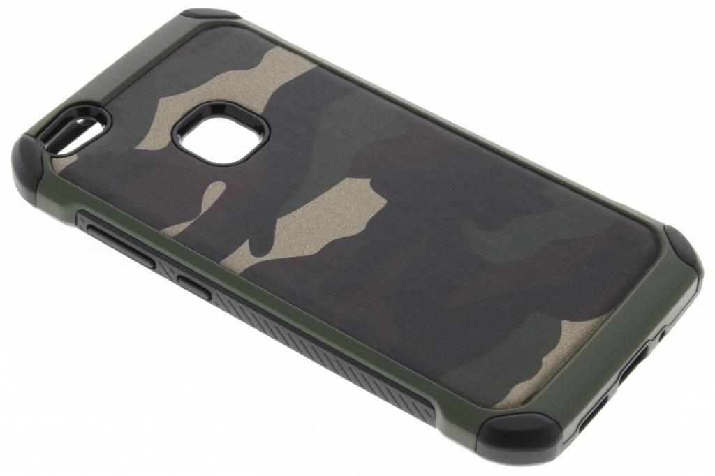 Army Defender Backcover voor Huawei P10 Lite - Groen