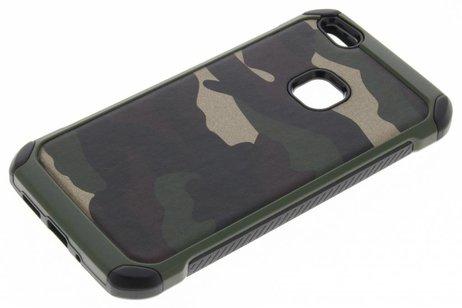 Huawei P10 Lite hoesje - Army Defender Backcover voor