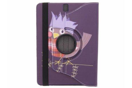 360° Draaibare Design Bookcase voor Samsung Galaxy Tab S3 9.7 - Vogel