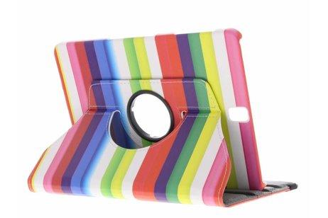 360° Draaibare Design Bookcase voor Samsung Galaxy Tab S3 9.7 - Regenboog