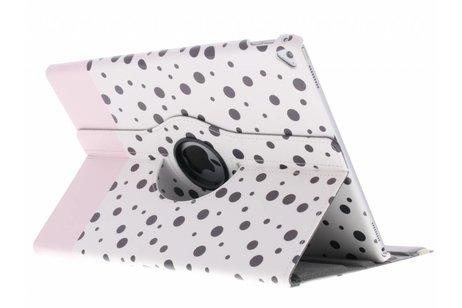 360° Draaibare Design Bookcase voor iPad Pro 12.9 - Spikkel