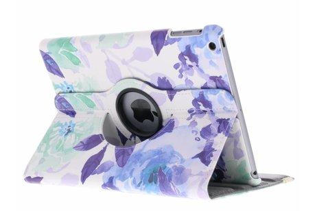 360° Draaibare Design Bookcase voor iPad Air - Waterverf Blauw