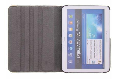 360° Draaibare Design Bookcase voor Samsung Galaxy Tab 3 10.1 - Koe