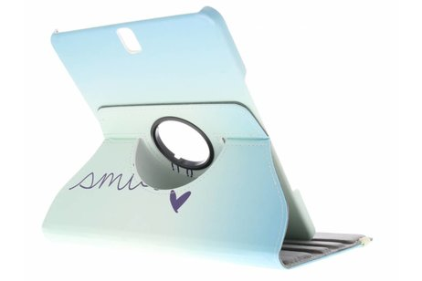 360° Draaibare Design Bookcase voor Samsung Galaxy Tab S3 9.7 - Smile