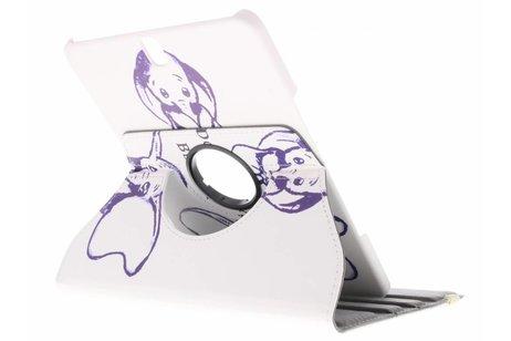 360° Draaibare Design Bookcase voor Samsung Galaxy Tab S3 9.7 - Be happy