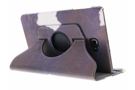 360° Draaibare Design Bookcase voor Samsung Galaxy Tab A 10.1 (2016) - Koe