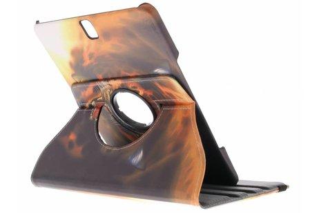 360° Draaibare Design Bookcase voor Samsung Galaxy Tab S3 9.7 - Tijger