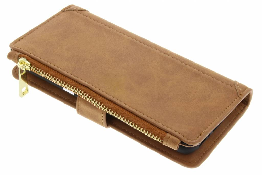 Luxe Portemonnee voor Samsung Galaxy S8 Plus - Bruin