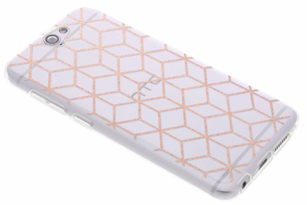 Design Backcover voor HTC One A9 - Cubes Rose Gold
