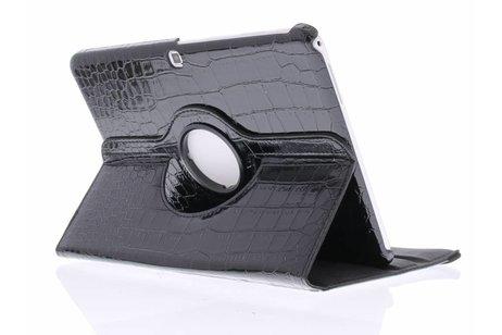 360° Draaibare krokodil Bookcase voor Samsung Galaxy Tab 4 10.1 - Zwart