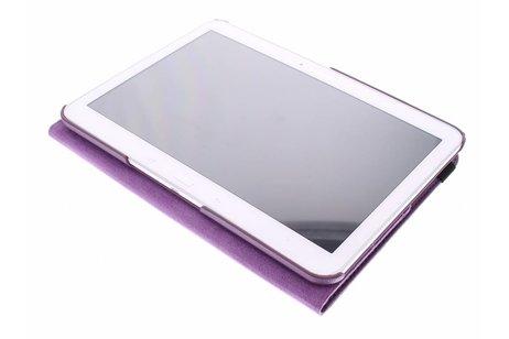 360° Draaibare Bookcase voor Samsung Galaxy Tab 4 10.1 - Paars