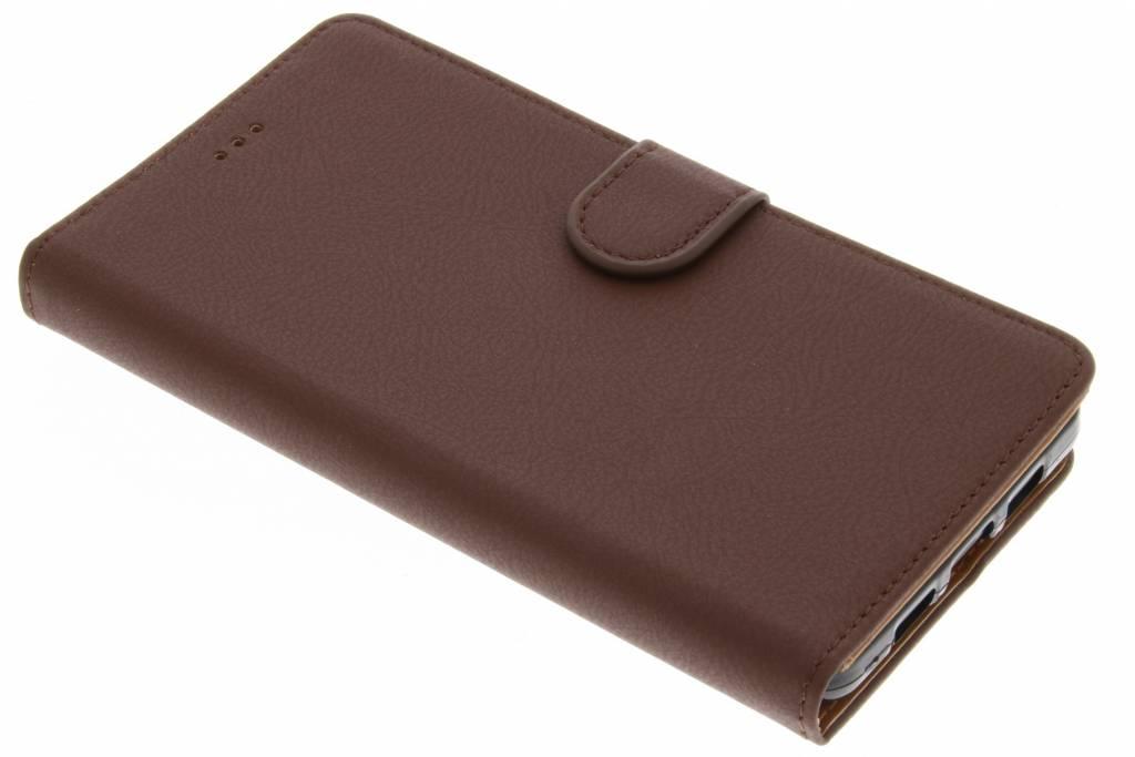 Bruine Wallet TPU Booklet voor de Lenovo P2