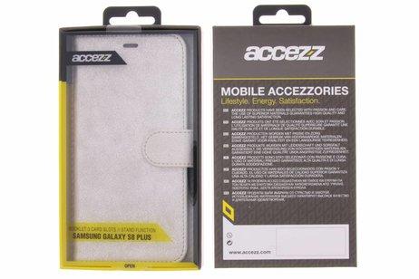 Accezz Glitter Wallet Booktype voor Samsung Galaxy S8 Plus - Zilver
