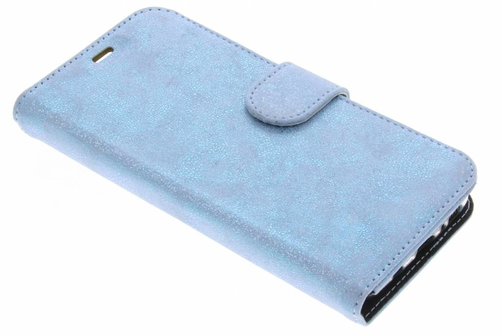 Accezz Glitter Wallet Booktype voor Samsung Galaxy S8 Plus - Blauw