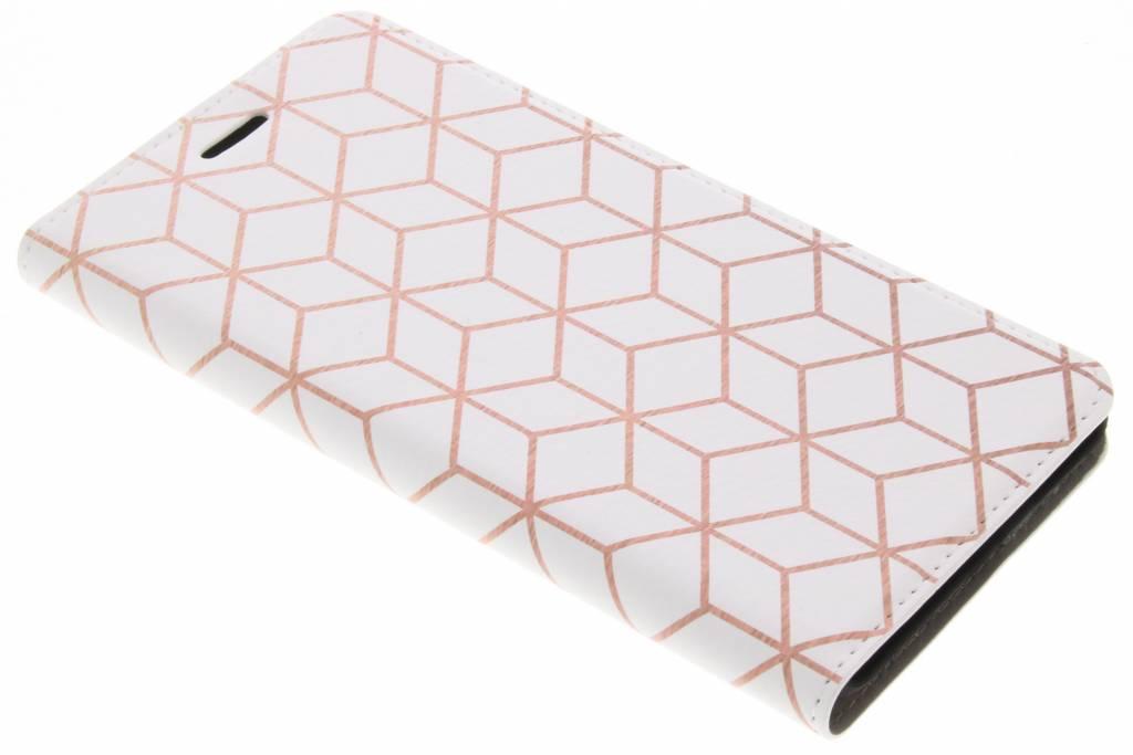 Design Hardcase Booktype voor Nokia 6 - Cubes Rose Gold