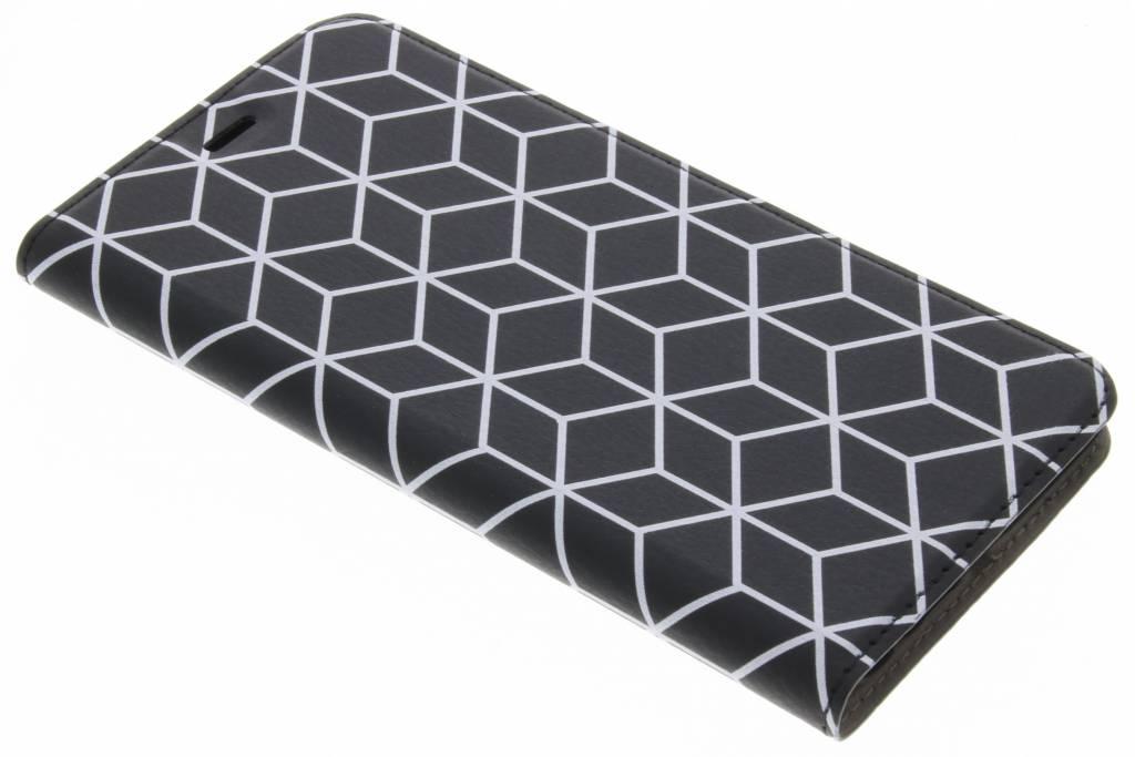 Design Hardcase Booktype voor Huawei P10 Plus - Cubes Black