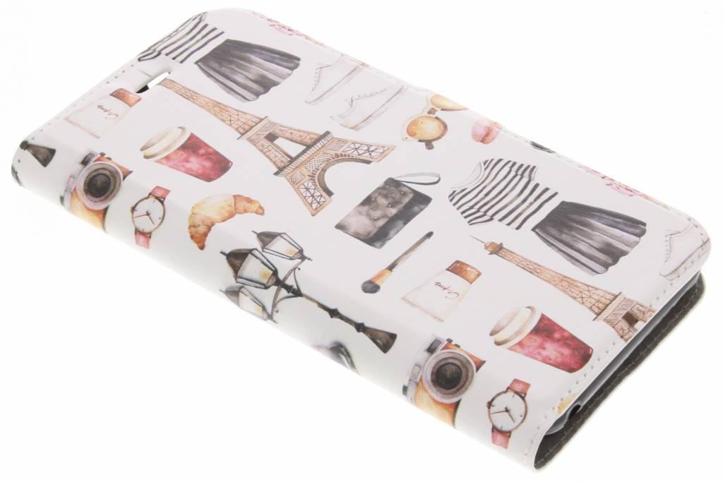 Design Softcase Booktype voor Acer Liquid Z6 - Cactus Bloemen