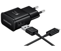 Samsung Fast Charging Adapter 15W + USB-C naar USB-kabel - Zwart