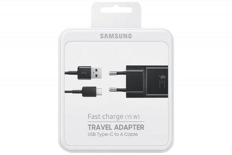 Samsung Zwarte Fast Charging Adapter 2A + USB-C naar USB-kabel