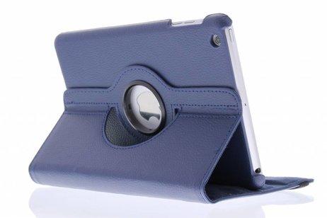 360° Draaibare Bookcase voor iPad Mini / 2 / 3 - Blauw