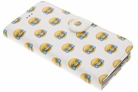 Design Softcase Booktype voor Motorola Moto G5 Plus - Emoji Lachen