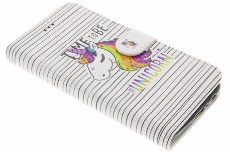 Design Softcase Booktype voor Motorola Moto G5 Plus - Unicorn
