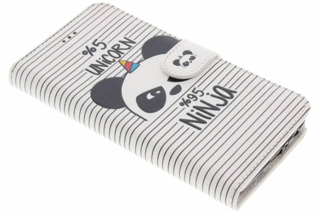 Design Softcase Booktype voor Motorola Moto G5 Plus - Unicorn Ninja