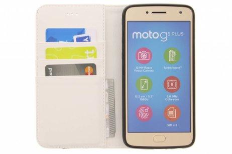 Design Softcase Booktype voor Motorola Moto G5 Plus - Mini Flamingo