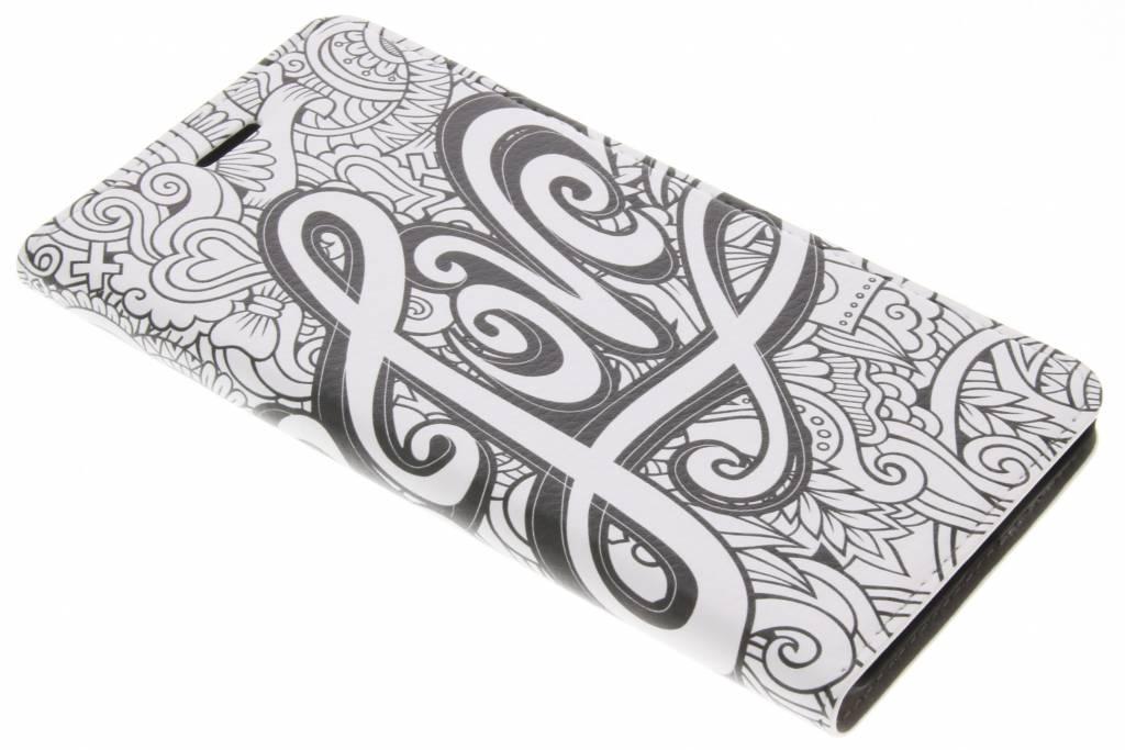 Design Hardcase Booktype voor Nokia 6 - Love