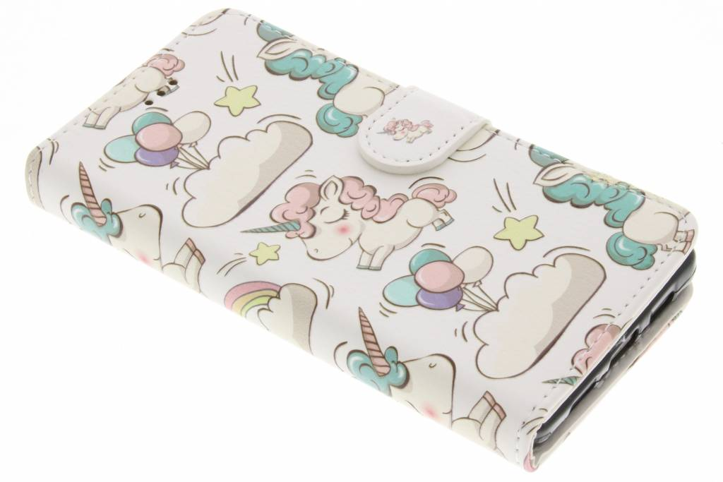 Design Softcase Booktype voor Huawei P8 Lite - Mini Flamingo